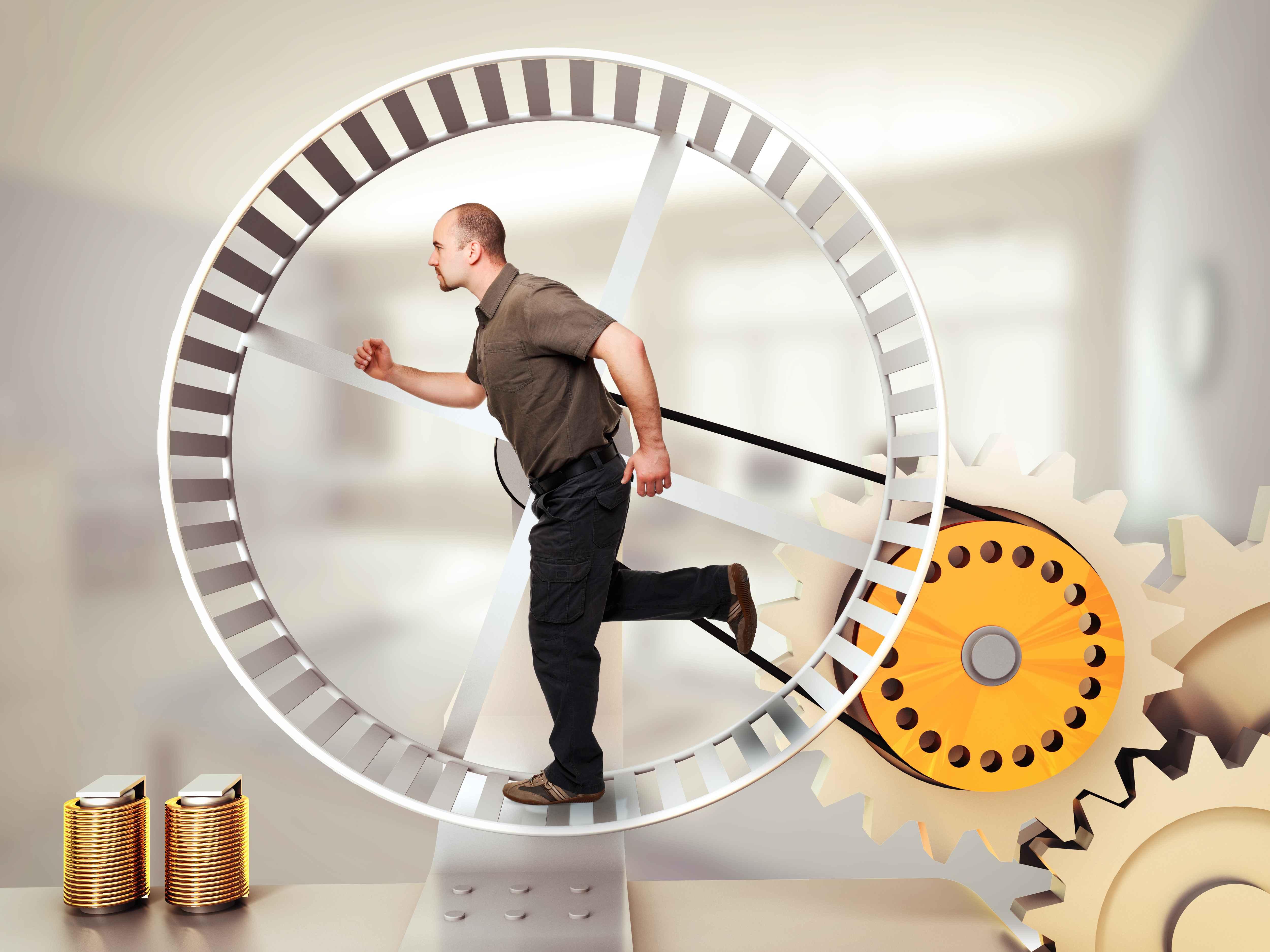 Бегущий в колесе рисунок фото